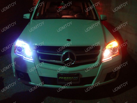 Mercedes Glk350 With Xenon White Led Eyelids And Led
